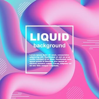 Flujo líquido de moda gradiente vector de fondo de neón
