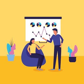 Flujo de trabajo e infografía