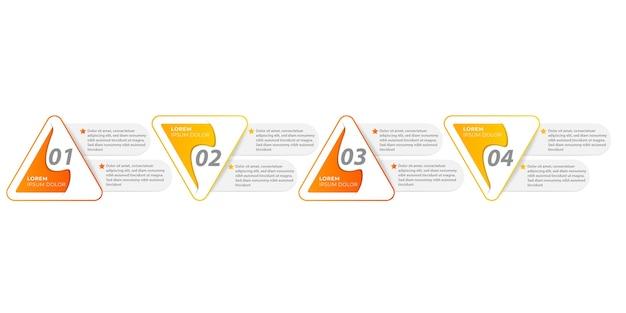 Flujo de trabajo de presentación de línea de tiempo de gráfico de plantilla de elemento de infografía editable y personalizable