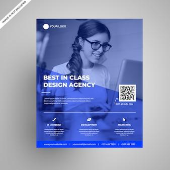 Flyer de la agencia de diseño ultra moderno