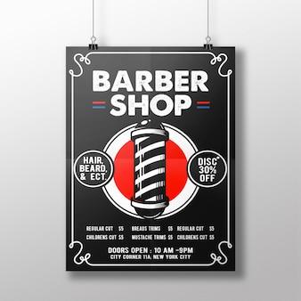 Flyer de barbería