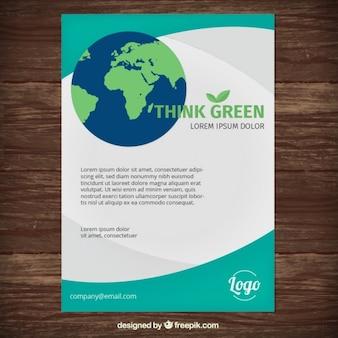 Flyer a color de medio ambiente