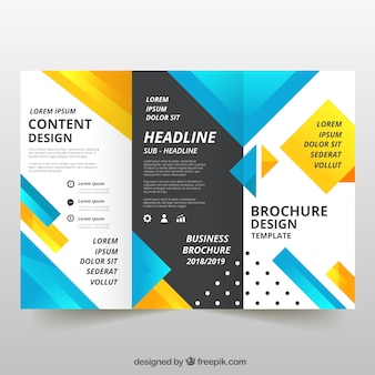Flyer creativo de negocios tríptico