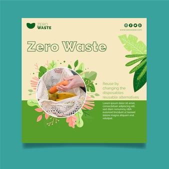 Flyer cuadrado cero residuos