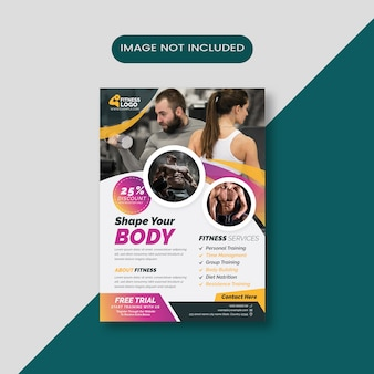 Flyer de deportes de fitness