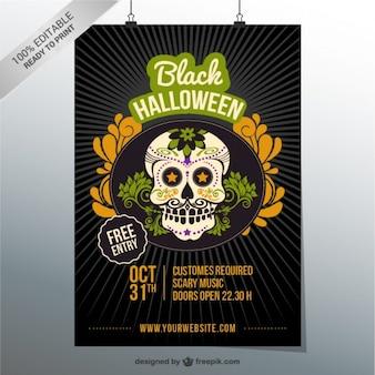 Flyer editable para fiesta de halloween