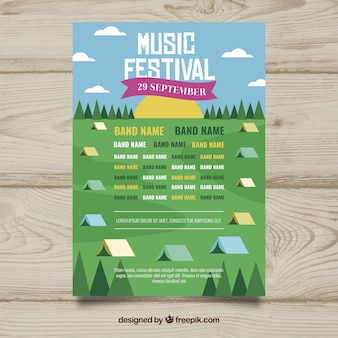 Flyer para festival de música