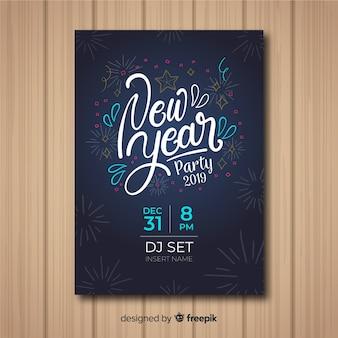 Flyer fiesta de año nuevo 2019