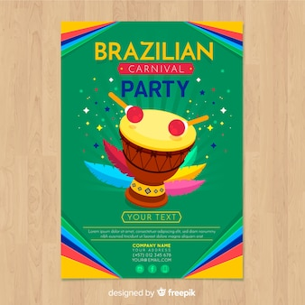 Flyer de fiesta de carnaval de brasil