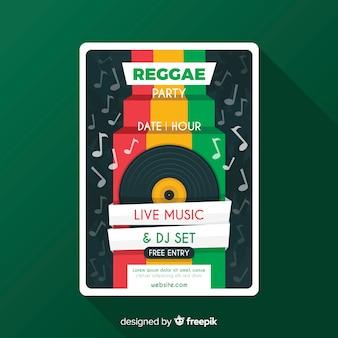 Flyer de fiesta reggae
