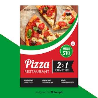 Flyer fotográfico restaurante pizza