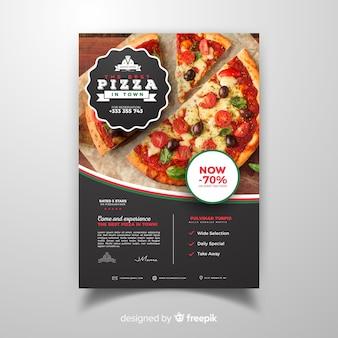 Flyer fotográfico restaurante pizza