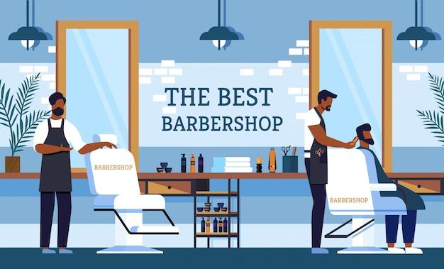 Flyer invitación barber a la mejor peluquería.
