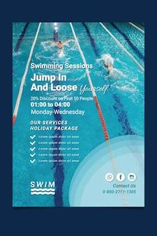 Flyer de natación vertical