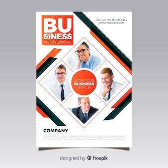Flyer de negocio con mosaico de imágenes