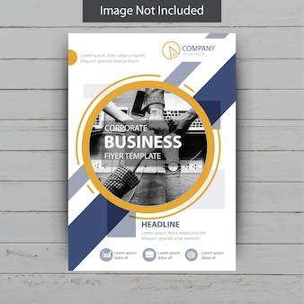Flyer de negocios de forma abstracta