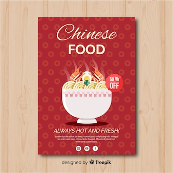 Flyer plano comida china