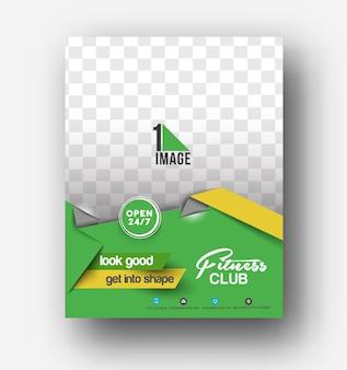 Flyer, póster y plantilla de diseño de revista en tamaño a4 vector