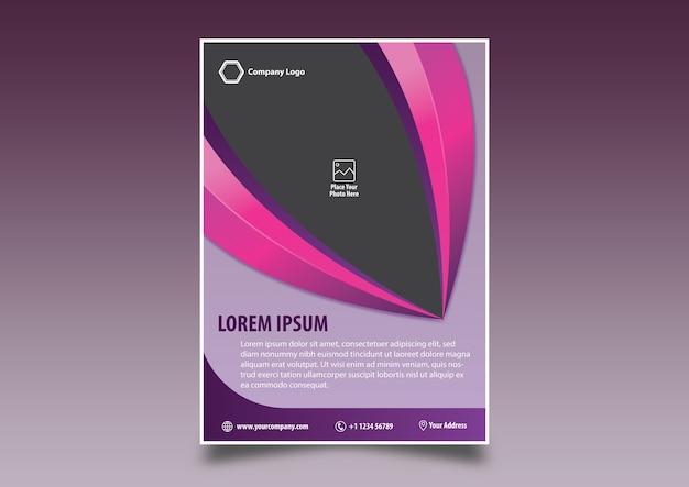Flyer púrpura