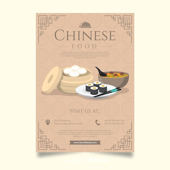 Flyer simple comida china