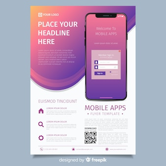 Flyer simple teléfono móvil