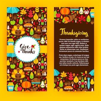 Flyer template acción de gracias. ilustración de vector de concepto de vacaciones de otoño.