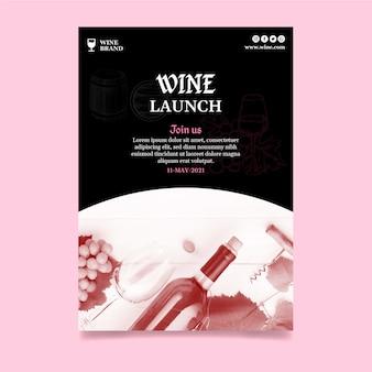 Flyer vertical para cata de vinos