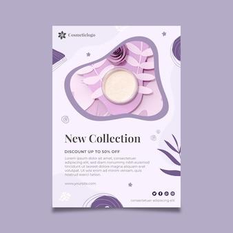 Flyer vertical cosmético de nueva colección