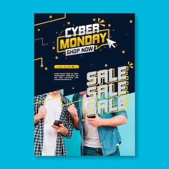 Flyer vertical de cyber monday