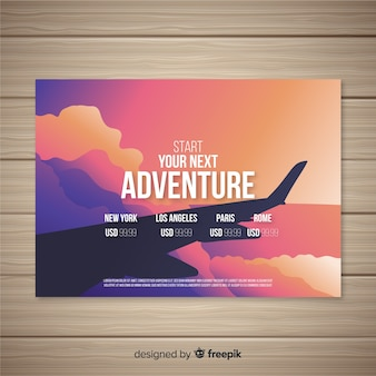 Flyer viaje ala de avión