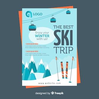 Flyer viaje para esquiar