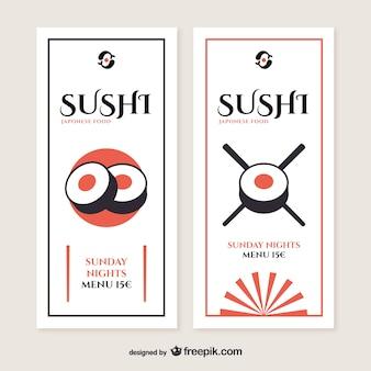Flyers de restaurante de sushi