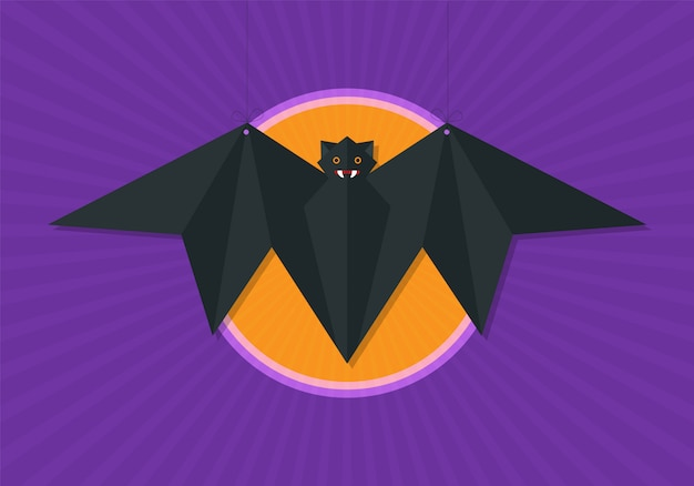 Flying origami fox