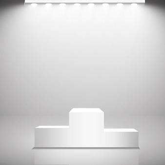 Focos. efectos de luz de escena y podio