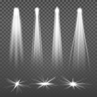 Focos de luces de haz blanco