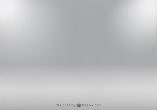 Focos de luz sobre fondo gris