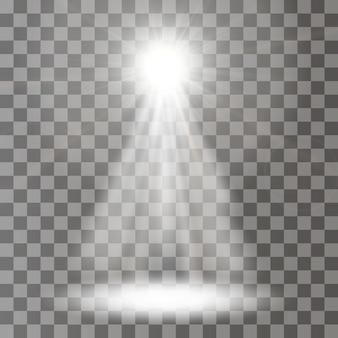 Focos vectoriales. escena. efectos de luz