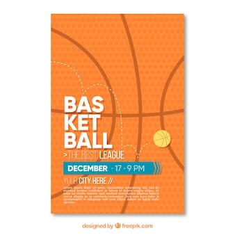 Folleto abstracto de baloncesto