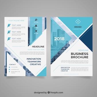 Folleto abstracto de negocios