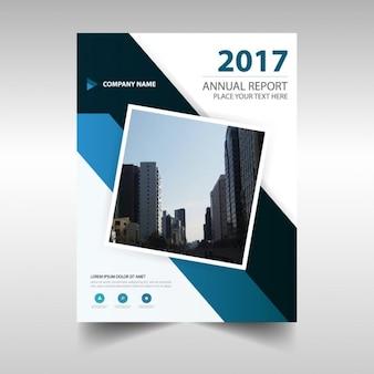 Folleto abstracto de reportaje anual de 2017