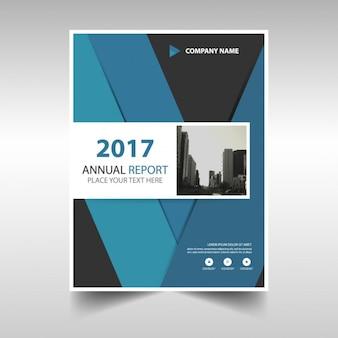 Folleto abstracto de reportaje anual