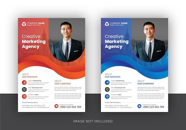 Folleto de agencia de marketing digital de negocios corporativos