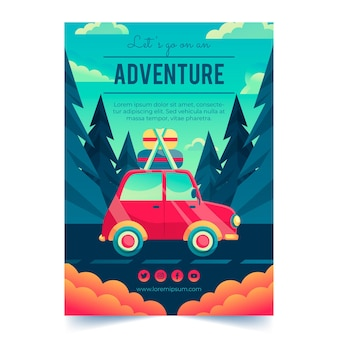 Folleto de aventuras detallado