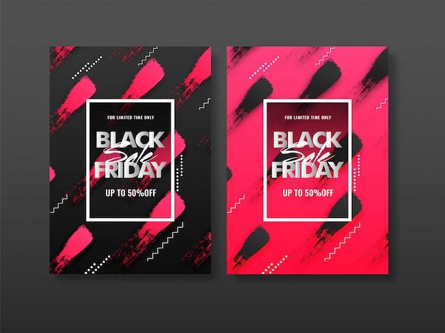 Folleto de banner de venta de viernes negro