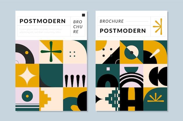 Folleto de colección de portadas de negocios posmodernos.