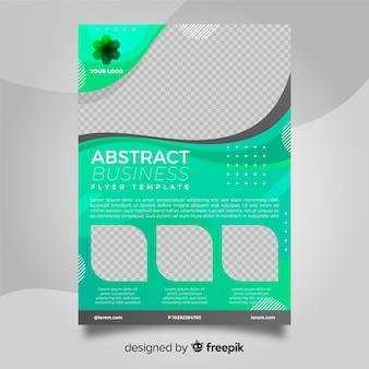 Folleto colorido de negocios con diseño abstracto