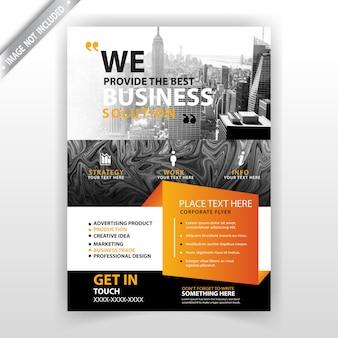 Folleto comercial de negocios abstractos