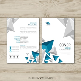 Folleto comercial con estilo abstracto