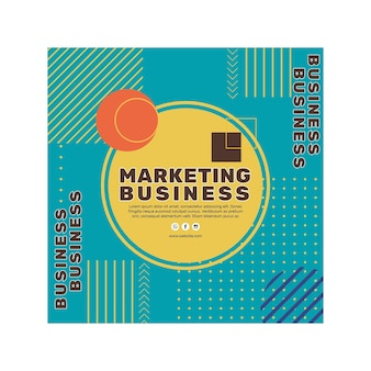 Folleto comercial de marketing