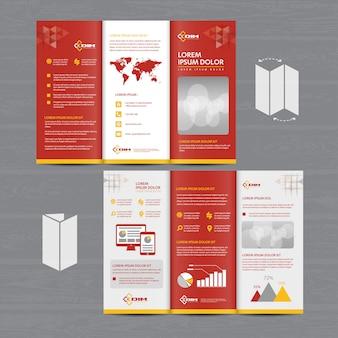 Folleto comercial tríptico folleto folleto